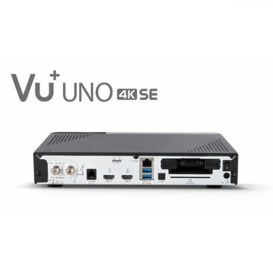 Receiver VU+ Uno 4K SE UltraHD Tuner Satelit Dual DVB-S2X FBC PVR Linux Enigma2
