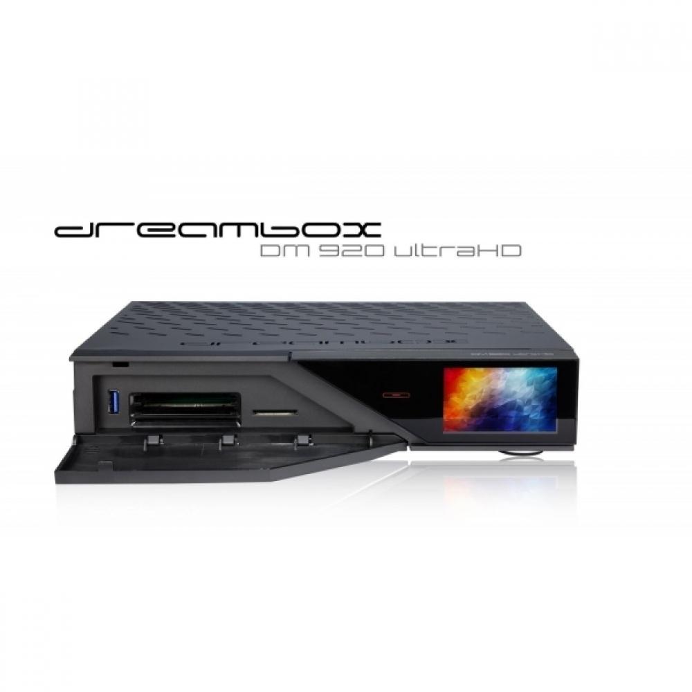Receiver Dreambox DM920 UltraHD 4K Tuner Satelit Dual DVB-S2X MULTISTREAM  Linux Dreambox OS 2 2