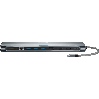 Canyon Multiport Docking Station with 12 ports Space grey