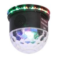EFECT UFO ASTRO LED RGB 3W CU DIFUZOR INCORPORAT, BLUETOOTH, NEGRU
