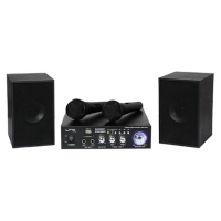 SET KARAOKE AMPLIFICATOR USB 2MIC+2 BOXE MODEL NOU