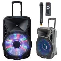 BOXA PORTABILA ILUMINATA LED 12 inch/30CM 300W RMS CU USB/SD/BT/FM