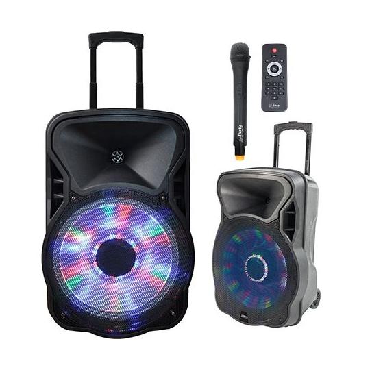 BOXA PORTABILA ILUMINATA LED 15 inch/38CM 400W RMS CU USB/SD/BT/FM