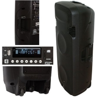 BOXA PORTABILA ACTIVA 2X15 inch/38CM 500W RMS USB/SD/BT/VHF