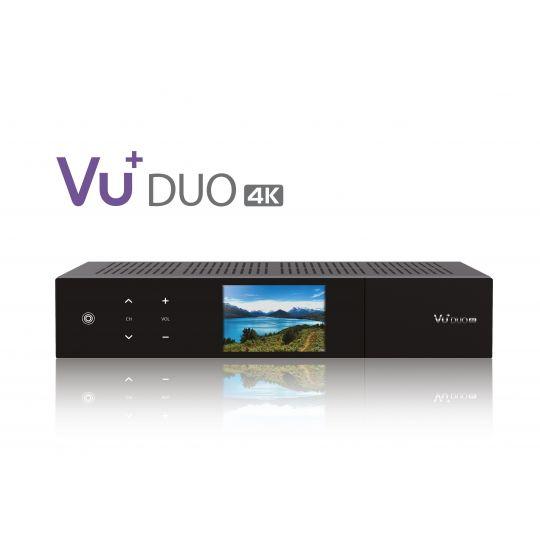 Receiver VU+ DUO 4K UltraHD Tuner Cablu DVB-C FBC PVR Chromium