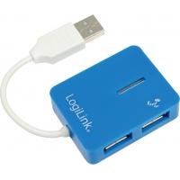 """HUB USB 2.0 extern LOGILINK, 4*USB, Smile, blue, """"UA0136"""""""