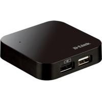 """HUB USB 2.0 extern D-LINK, 4*USB, adaptor 5V, negru """"DUB-H4"""""""