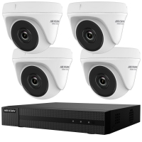 KIT SUPRAVEGHERE HIKVISION HD, 4 camere dome HWT-T140 + 1 DVR 4 canale HWD-6104MH-G2 + 1TB HDD