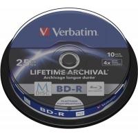 BD-R VERBATIM  25GB, viteza 4x, 10 buc, spindle, printabil,
