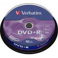 DVD+R VERBATIM  4.7GB, 120min, viteza 16x,  10 buc, Single Layer, spindle,